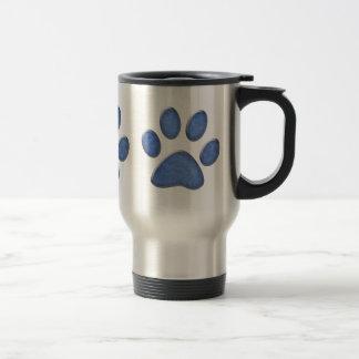 impresión de la pata del gato del dril de algodón tazas de café