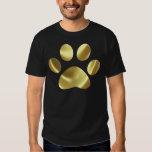 Impresión de la pata del gato del oro remeras