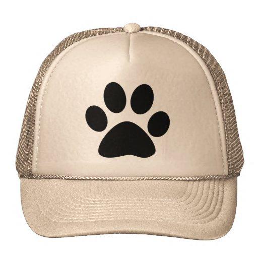 Impresión de la pata del gato gorras