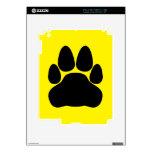 Impresión de la pata del gato negro para los calcomanía para iPad 2