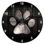 Impresión de la pata del Grunge Relojes