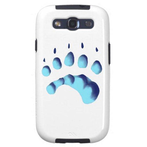 Impresión de la pata del oso polar galaxy SIII fundas