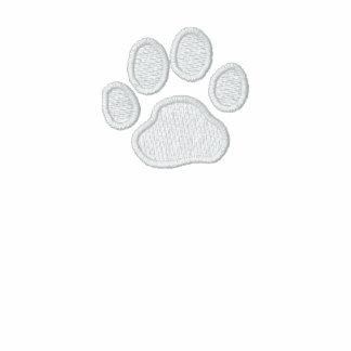 Impresión de la pata del perro con el texto y los  chamarra de deporte bordada