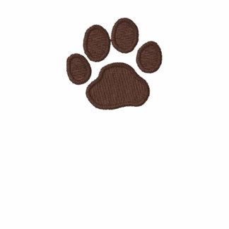 Impresión de la pata del perro con el texto y los  polo bordado