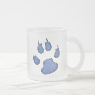 impresión de la pata del perro del dril de algodón tazas de café