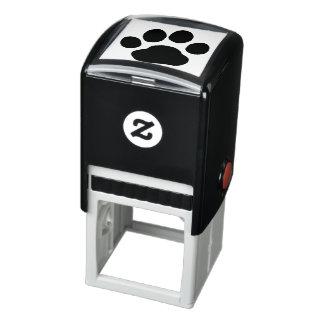Impresión de la pata del perro sello automático