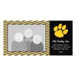 Impresión de la pata del tigre - fan o graduación  tarjetas personales con fotos