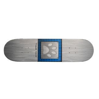Impresión de la pata; Metal-mirada Patín Personalizado