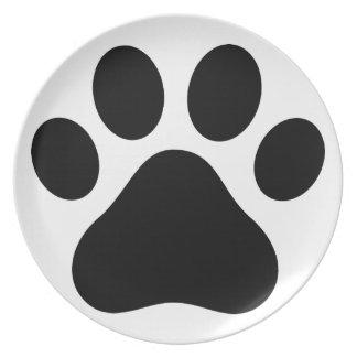 Impresión de la pata plato