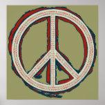 Impresión de la paz poster