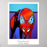 """""""Impresión de la persuasión del coyote"""" Poster"""