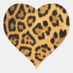 Impresión de la piel de Jaguar Calcomanía Corazón Personalizadas