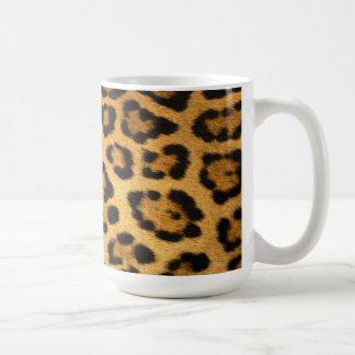 Impresión de la piel de Jaguar Taza Clásica