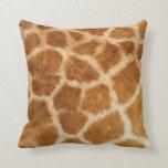 Impresión de la piel de la jirafa almohada