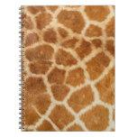 Impresión de la piel de la jirafa cuaderno