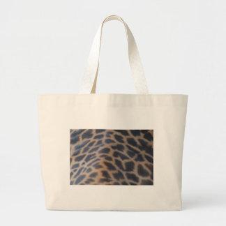 impresión de la piel de la jirafa del masai bolsas lienzo