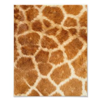 Impresión de la piel de la jirafa arte fotografico