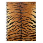 Impresión de la piel de la raya del tigre cuadernos