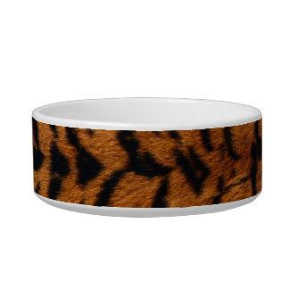 Impresión de la piel de la raya del tigre tazon para gato