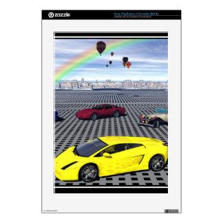 Impresión de la piel de los coches de deportes calcomanía para consola PS3