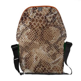 Impresión de la piel de serpiente bolsa de mensajería