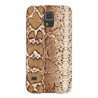 Impresión de la piel de serpiente de Brown Carcasa Galaxy S5