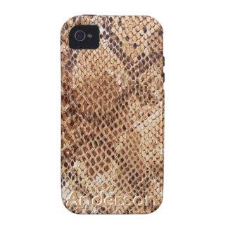 Impresión de la piel de serpiente del pitón para iPhone 4/4S fundas