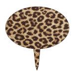 Impresión de la piel del guepardo figuras para tartas
