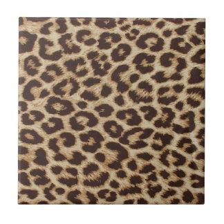 Impresión de la piel del guepardo azulejo cuadrado pequeño
