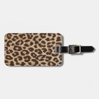Impresión de la piel del guepardo etiquetas para maletas