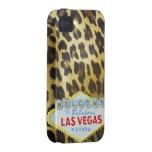 Impresión de la piel del leopardo de Las Vegas Case-Mate iPhone 4 Fundas