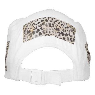 Impresión de la piel del leopardo en marfil gorra de alto rendimiento