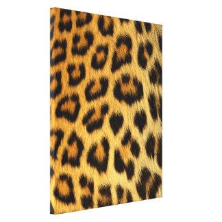 Impresión de la piel del leopardo impresión en lienzo estirada