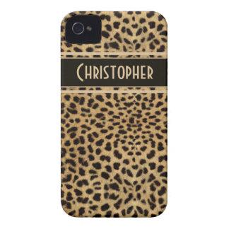 Impresión de la piel del punto del leopardo carcasa para iPhone 4 de Case-Mate