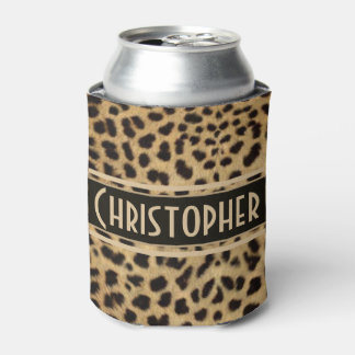 Impresión de la piel del punto del leopardo enfriador de latas