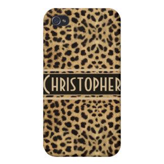 Impresión de la piel del punto del leopardo iPhone 4 carcasa