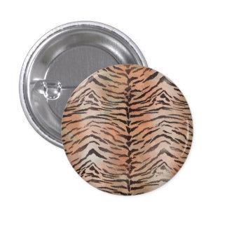 Impresión de la piel del tigre en albaricoque pin redondo de 1 pulgada