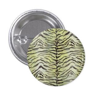 Impresión de la piel del tigre en cal pin redondo de 1 pulgada