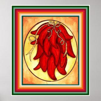 Impresión de la pimienta de chile póster