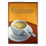 Impresión de la pintura del café express tarjeta