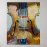 Impresión de la pintura del violín póster