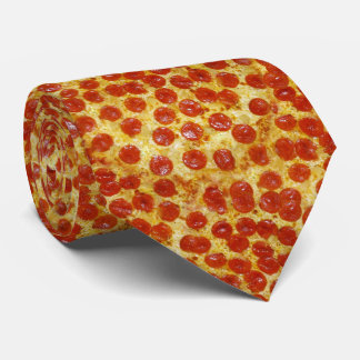 Impresión de la pizza en la corbata