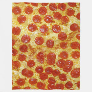 Impresión de la pizza en la manta del paño grueso manta de forro polar