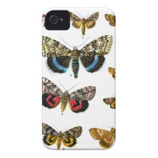Impresión de la placa de mariposa del libro de los iPhone 4 cárcasa
