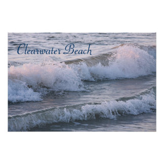Impresión de la playa de Clearwater Póster