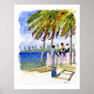 Impresión de la playa de Nassau