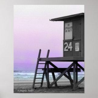 Impresión de la playa de Newport de la torre del s Impresiones