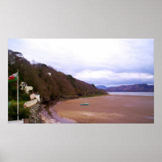 Impresión de la playa de Portmeirion Posters