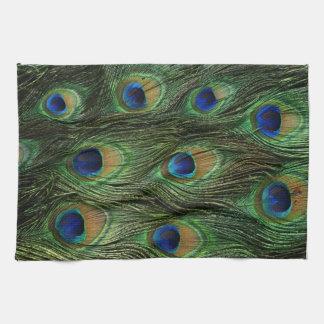 Impresión de la pluma del pavo real toallas