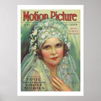 Impresión de la portada de revista de la película  póster